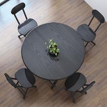 折叠桌xt圆桌餐桌家qp折叠桌椅便携摆摊(小)桌子简易吃饭桌租房