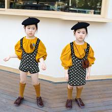 IFK00DS童装 sl式宝宝女童针织四色提花背带短裤和背带裙