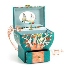 法国D0aECO宝宝a9旋转公主女孩首饰盒八音盒玩具木质