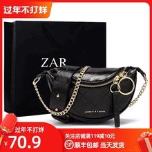 香港正品女包质感0l5限定洋气lm腰包女时尚单肩斜挎链条包包