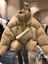 特价M10dressju大门代购2020冬季女立领拉链纯色羽绒服面包服