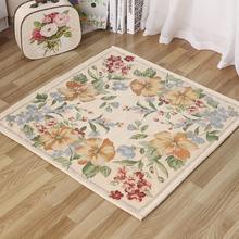 田园风正方形地毯地垫家用