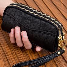 20215新式双拉链qu女式时尚(小)手包手机包零钱包简约女包手抓包