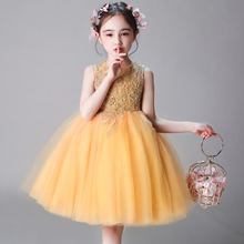 女童生17公主裙宝宝sq(小)主持的钢琴演出服花童晚礼服蓬蓬纱冬