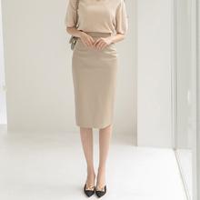 20218秋冬新式复6s高腰半身裙PU皮中长式显瘦包臀裙一步裙
