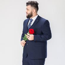 加大码1m服套装男新mu结婚礼服男西装套装弹力宽松款胖子西装