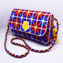 新式3D1n1体十字绣2w巾储物收纳盒几何图案手包钱包拎包套件