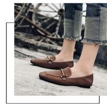2021r0新式单鞋r7搭休闲韩款软底女鞋大码两穿豆豆鞋百搭夏季