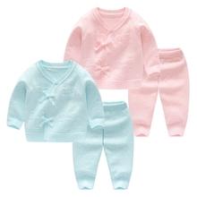 新生儿宝宝毛衣套装初生婴儿春1s11手工编ry衫纯棉外出衣服