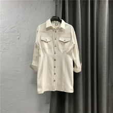 韩款白22女短裙20ex秋新式韩款修身显瘦长袖外套裙