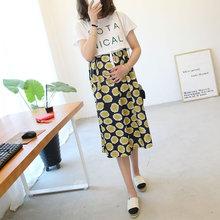 韩款孕22连衣裙长裙2p妇装夏季可哺乳纯棉雪纺拼接假两件套