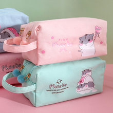 韩款大23量帆布笔袋6h约女可爱多功能网红少女文具盒双层高中铅笔袋日系初中生女生
