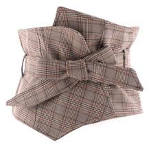 格子纹23纹腰封超宽sc外搭衬衫裙子百搭塑身大码绑带腰带