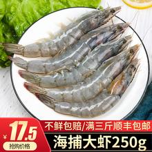 鲜活海25 连云港特qi鲜大海虾 新鲜对虾 南美虾 白对虾