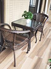 户外桌2a庭院花园奶2j店室外编藤桌椅阳台(小)茶几藤椅三件套