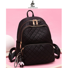 牛津布2l肩包女20lk式韩款潮时尚时尚百搭书包帆布旅行背包女包