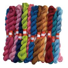 手工鞋垫粗线十字绣2p6线棉线包ie绣花线28个颜色一件100根