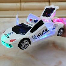 电动儿2v汽车玩具生2f男孩女宝宝灯光音乐会跳舞旋转万向警车