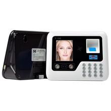 F-1368的脸考勤bu式打卡机面部刷脸手指指纹识别签到机一体机