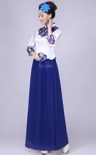 20136演出古筝二bu风韵大合唱服装表演新式中老年合唱民服中国