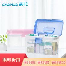茶花塑37家用药箱家36多层手提急救药品收纳盒出诊药物医药箱