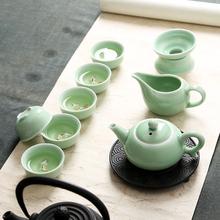 陶瓷茶37套装 功夫36碗茶杯茶壶整套青花瓷茶碗茶海家用