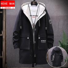 外套男3d长式202nt季上衣韩款帅气潮流工装夏男士风衣学生防晒