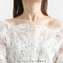 超好搭3dchokent简约少女心颈链锁骨链女脖子饰品颈带