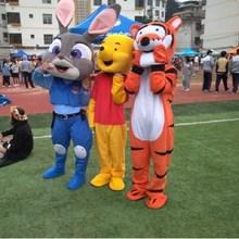 网红熊3e服布偶服装gg偶服行走抖音熊发传单的卡通的偶维尼熊