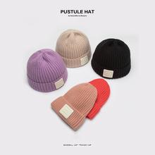毛线帽4r0女秋冬天ri加厚套头包头帽学生可爱护耳冬季针织帽
