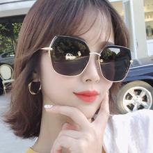 乔克女51偏光太阳镜xl线潮网红大脸ins街拍韩款墨镜2020新式