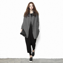 原创设55师品牌女装la长式宽松显瘦大码2020春秋个性风衣上衣