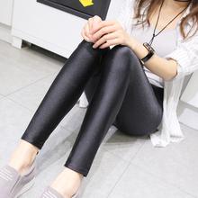 光泽裤59士弹力春秋8p紧身高腰九分裤黑色紧身显瘦外穿打底裤