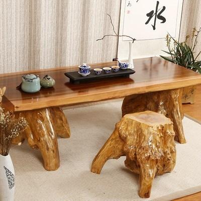 经济型5b木(小)号特惠it台树根茶桌组合功夫茶几整体茶桌椅家用