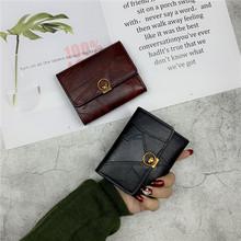 2025t新式韩款潮jt短式复古港风折叠(小)钱夹简约搭扣卡包零钱包