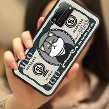 卡通美元5v1物华为荣vf手机壳硅胶荣耀x10plus保护套软全包防摔个性创意纸