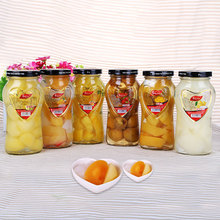 新鲜黄5y罐头268y1瓶水果菠萝山楂杂果雪梨苹果糖水罐头什锦玻璃