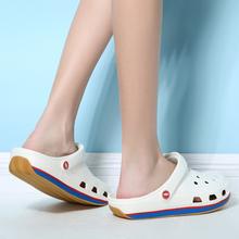 2025z新式牛筋底z4外海边情侣洞洞鞋夏季防滑厚底沙滩凉鞋拖鞋