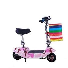 女孩单69骑行女式户6x(小)型折叠电动车迷你型成的自行车炫酷。