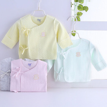 新生儿6b衣婴儿半背bv-3月宝宝月子纯棉和尚服单件薄上衣夏春
