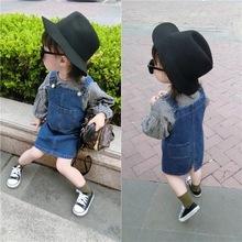 童装26g20新式韩gs裙子2-4-5-8岁宝宝背带裙女童  牛仔裙