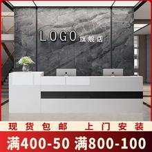 收银台6k台简约现代kj利店(小)型吧台商用  公司烤漆前台接待台