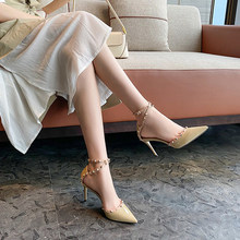一代佳75高跟凉鞋女1g1新式春季包头细跟鞋单鞋尖头春式百搭正品
