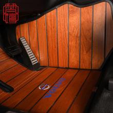 奥迪奔78宝马路虎艾8d克GL8歌诗图蔚来柚木地板汽车脚垫实木