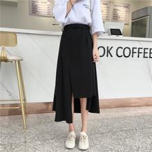 胖半身裙大码女mm20217810装适合8t的女生裙子中长款不规则