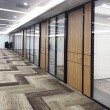 办公家7b高隔断钢化lo室屏风隔间双玻百叶广东高隔断