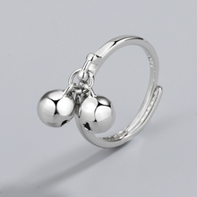 日韩双7n铛开口纯银c25戒指女设计感简约指环(小)众冷淡风调节