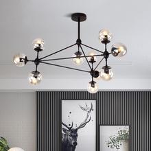 北欧现7q简约服装店q3创意个性玻璃球办公室魔豆吊灯