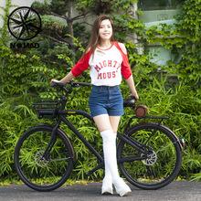 Nom7ud新品城市uk闲男女式复公路自行车山地日本变速