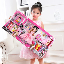芭比洋7u娃【73/uk米】大礼盒公主女孩过家家玩具大气礼盒套装